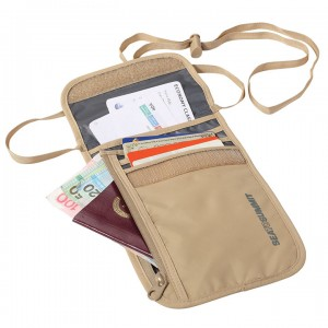 STS Neck Wallet 5 Sand/Grey