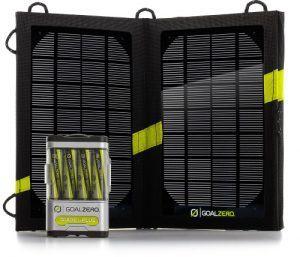 Goal Zero Guide 10 Plus Solar Kit, solar panel, battery